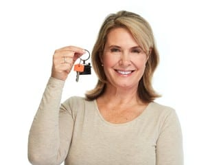 Landlord lady with Key